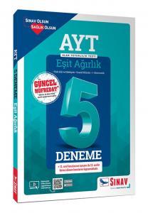 Sınav Yayınları AYT Eşit Ağırlık Çözümlü 5 Deneme