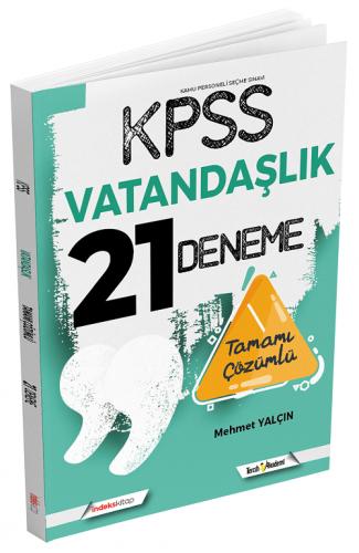 İndeks Kitap 2021 KPSS Vatandaşlık 21 Deneme Çözümlü Mehmet Yalçın