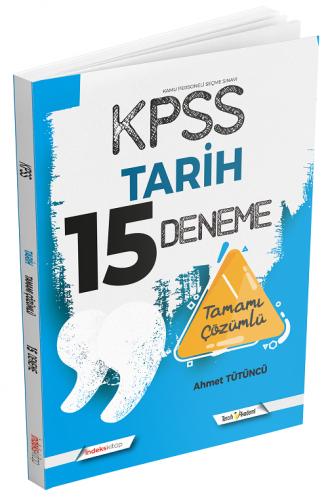 İndeks Kitap 2021 KPSS Tarih 15 Deneme Çözümlü Ahmet Tütüncü