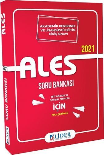 Lider Yayınları 2021 ALES Soru Bankası Eşit Ağırlık Sayısal Komisyon
