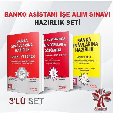 Banko Asistanı Sınavlarına Hazırlık 3'lüSet Komisyon