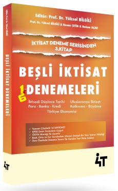 4T Yayınları KPSS A Grubu Beşli İktisat Denemeleri Yüksel Bilgili