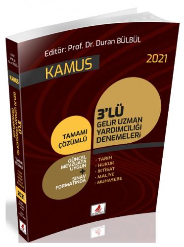 DB Yayıncılık 2021 GUY Gelir Uzman Yardımcılığı Kamus 3 Deneme Duran B