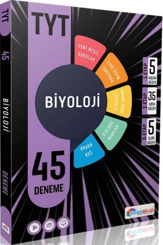 KöşeBilgi Yayınları TYT Biyoloji 45 Deneme Komisyon