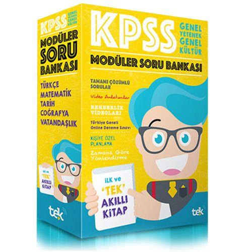 Tek Uzem 2019 KPSS Genel Yetenek Genel Kültür Modüler Soru Bankası Kom