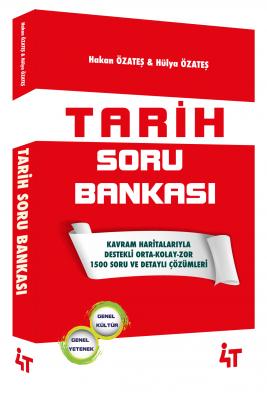 4T Yayınları KPSS Tarih Soru Bankası Çözümlü Hakan Özateş