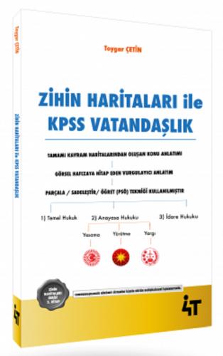 4T Yayınları KPSS Zihin Haritaları ile Vatandaşlık Toygar Çetin