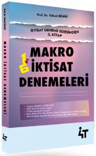 4T Yayınları KPSS A Grubu Makro İktisat Denemeleri Yüksel Bilgili