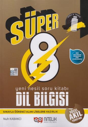 Nitelik Yayınları 8. Sınıf Dil Bilgisi Süper Yeni Nesil Soru Kitabı