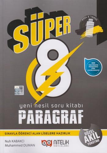 Nitelik Yayınları 8. Sınıf Paragraf Süper Yeni Nesil Soru Kitabı Nuh K