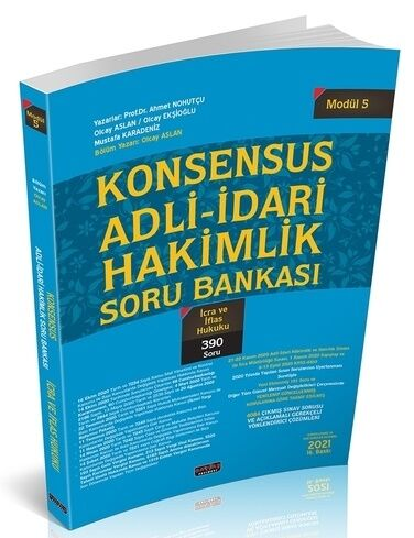 Savaş Yayınları KONSENSUS Adli İdari Hakimlik İcra ve İflas Hukuku Sor