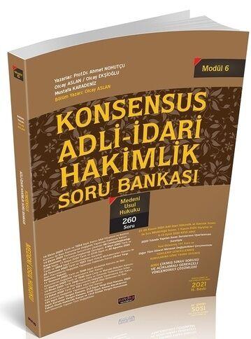 Savaş Yayınları KONSENSUS Adli İdari Hakimlik Medeni Usul Hukuku Soru