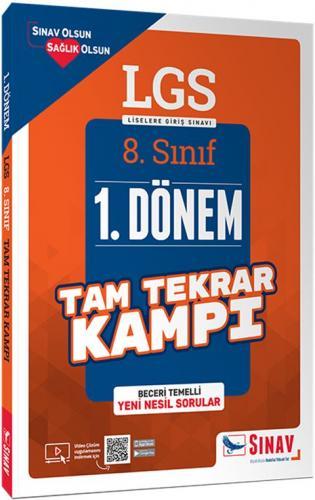 Sınav Yayınları 8. Sınıf LGS 1. Dönem Çözümlü Tam Tekrar Kampı Komisyo