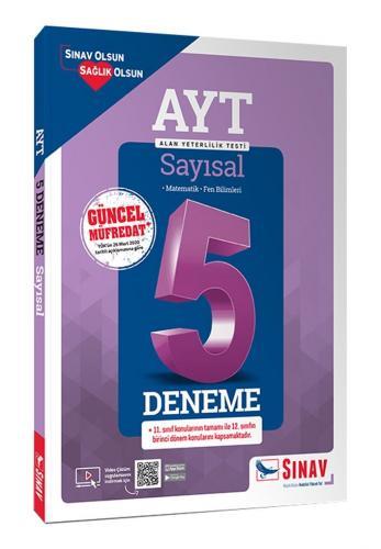 Sınav Yayınları AYT Sayısal Çözümlü 5 Deneme