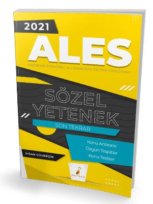 Pelikan Yayınları 2021 ALES Sözel Yetenek Son Tekrar Konu Anlatımı İhs