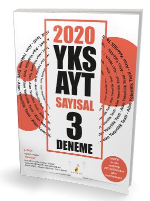 Pelikan Yayınları 2020 YKS AYT Sayısal 3 Deneme Sınavı Nuh Hellagün