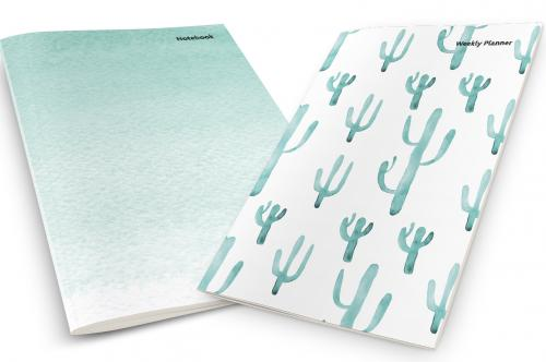 Watercolor Cactus Weekly Planner & Notebook