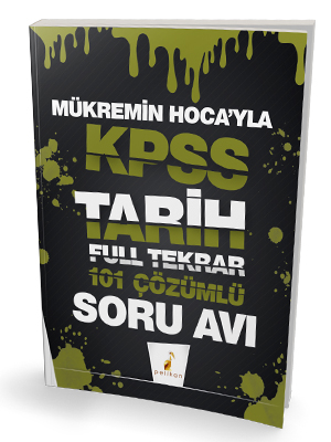 Pelikan Yayınları KPSS Tarih Soru Avı 101 Çözümlü Soru Full Tekrar Mük