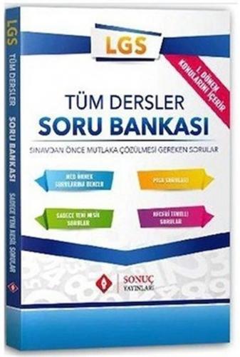 Sonuç Yayınları 8. Sınıf LGS 1. Dönem Tüm Dersler Soru Bankası Komisyo