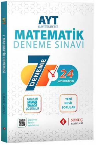 Sonuç Yayınları AYT Matematik Tamamı Video Çözümlü 7 Deneme Komisyon