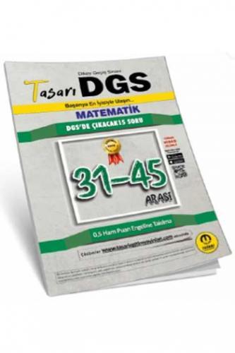 Tasarı Yayınları DGS Matematik 31-45 Arası Garanti Soru Kitapçığı Komi