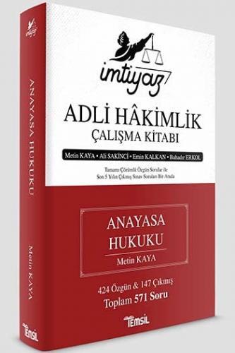 İmtiyaz Adli Hakimlik Çalışma Kitabı Anayasa Hukuku Metin Kaya