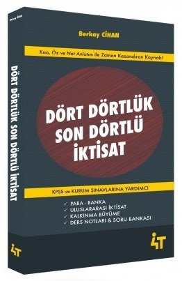 4T Yayınları KPSS A Grubu Dört Dörtlük Son Dörtlü İktisat Berkay Cihan